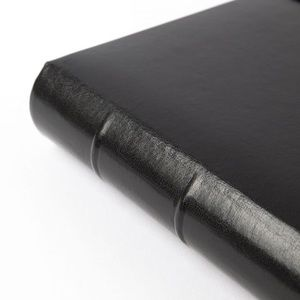 gallery leather Office - Gallery Leather Black Leather Address Book